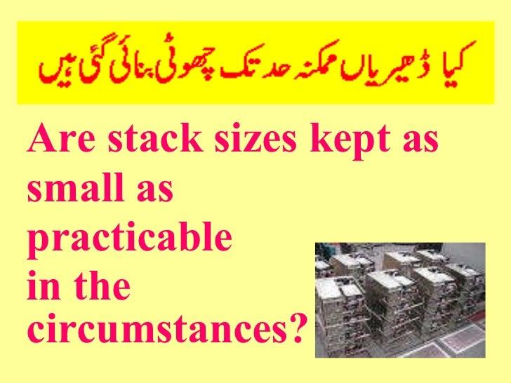 <ul><li>Are stack sizes kept as </li></ul><ul><li>small as </li></ul><ul><li>practicable </li></ul><ul><li>in the  </li></...
