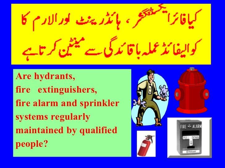<ul><li>Are hydrants,  </li></ul><ul><li>fire  extinguishers,  </li></ul><ul><li>fire alarm and sprinkler </li></ul><ul><l...