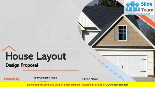 House Layout Design Proposal Prepared By Your Company Name User Address Client Name