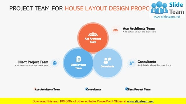 PROJECT TEAM FOR HOUSE LAYOUT DESIGN PROPOSAL 12 Ace Architects Team Client Project Team Consultants Add details about the...