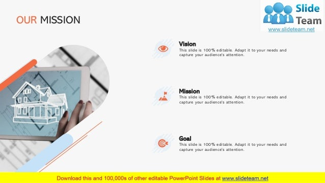 19 OUR MISSION This slide is 100% editable. Adapt it to your needs and capture your audience's attention. Vision This slid...
