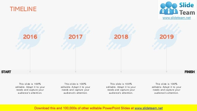 TIMELINE 21 2016 This slide is 100% editable. Adapt it to your needs and capture your audience's attention. 2017 This slid...
