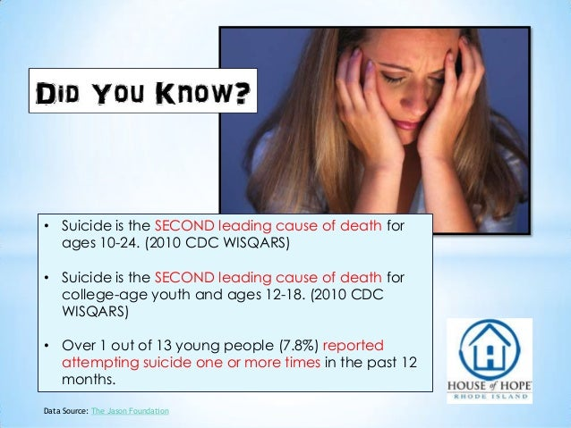 Troubled Teen Statistics: House of Hope Rhode Island Slide 2