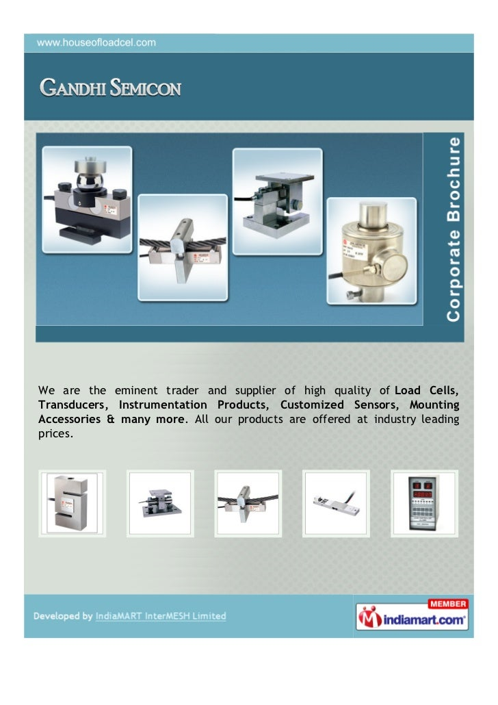 We are the eminent trader and supplier of high quality of Load Cells,Transducers, Instrumentation Products, Customized Sen...