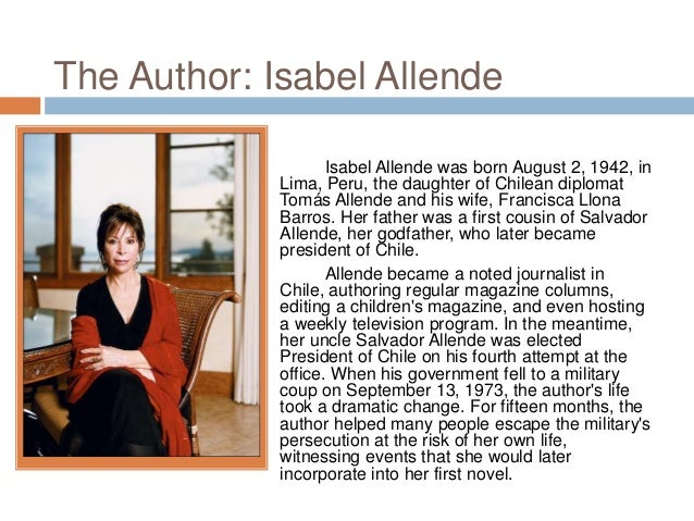 an analysis of social progress in the house of the spirits by isabel allende Isabel allende's first novel, the house of the spirits, tells the story of four generations of a land-owning family in postcolonial chile the novel incorporates many elements of magical realism (it blends supernatural occurrences with realistic events).