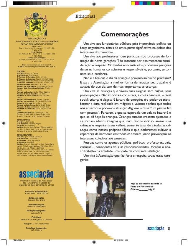 House Organ Associacao Revista 186