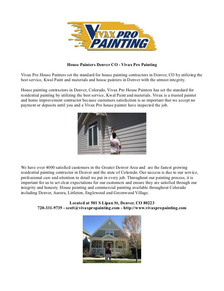house painters denver co vivax pro painting