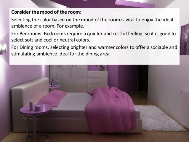 color for each room 3 consider the mood house painting colorado picking the paint color - Bedroom Paint Colors And Moods