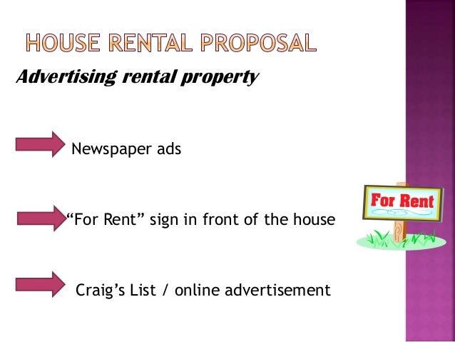 advertisement for house rent