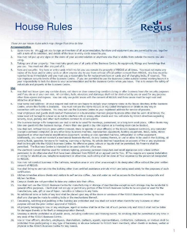 House rules Slide 1
