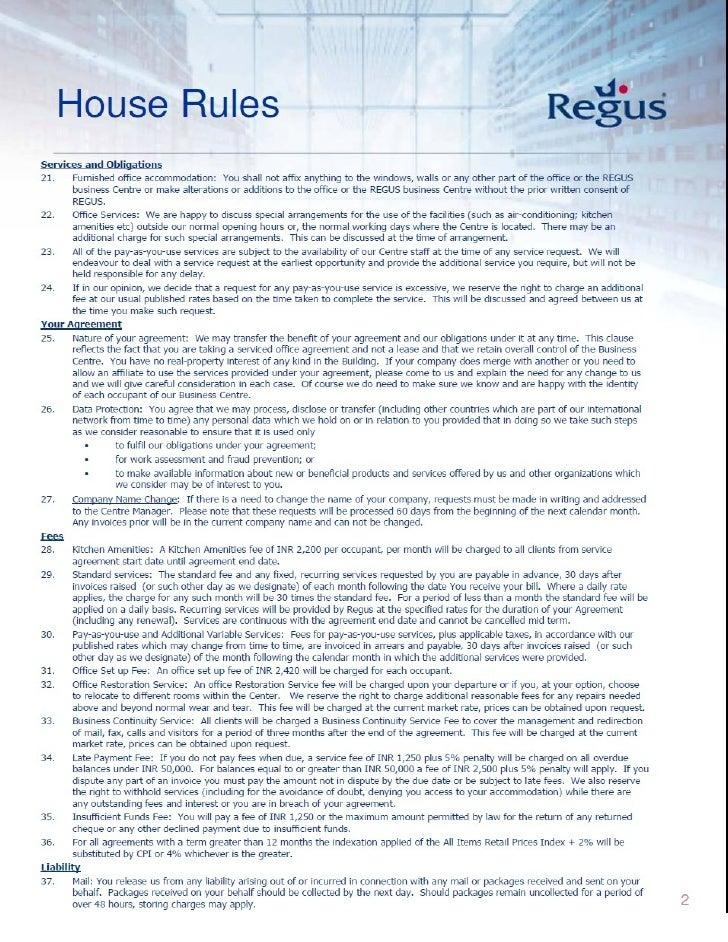 House rules Slide 2