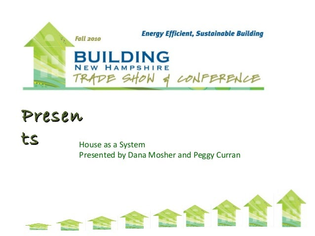 PresenPresen tsts House as a System Presented by Dana Mosher and Peggy Curran