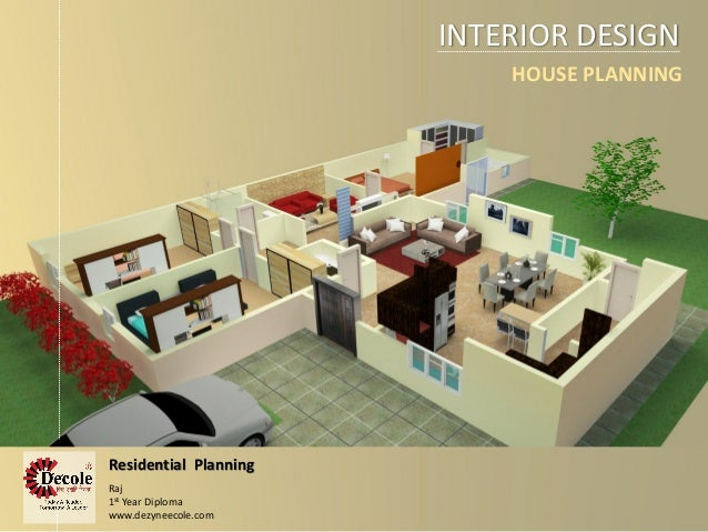 INTERIOR DESIGN Residential Planning HOUSE PLANNING Raj 1st Year Diploma Dezyneecole