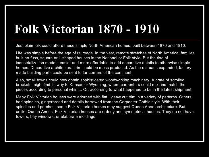 STYLE 41 Folk Victorian