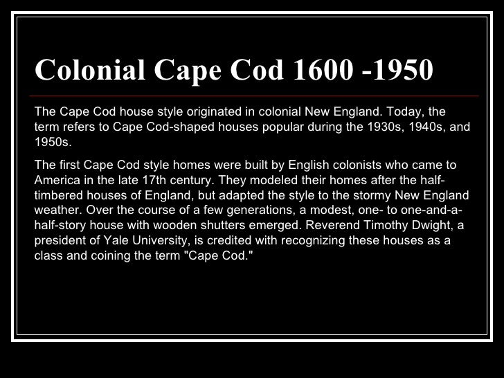 Cape cod style houses characteristics