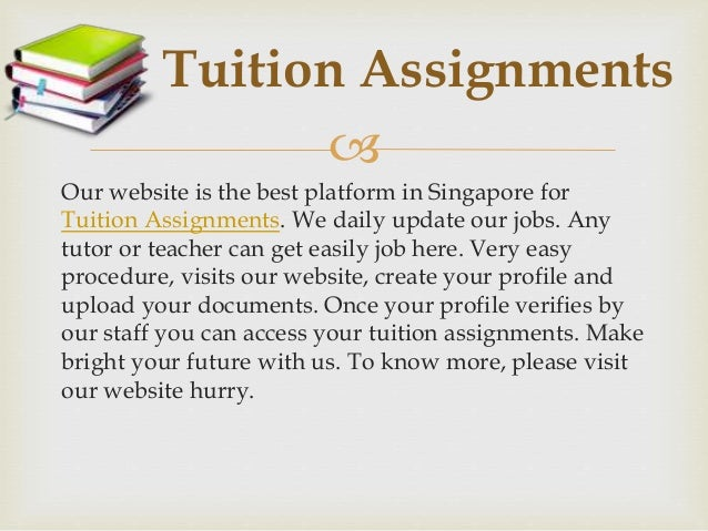 tuition assignments for teachers