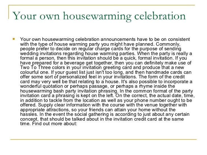 Housewarming bash themes tips