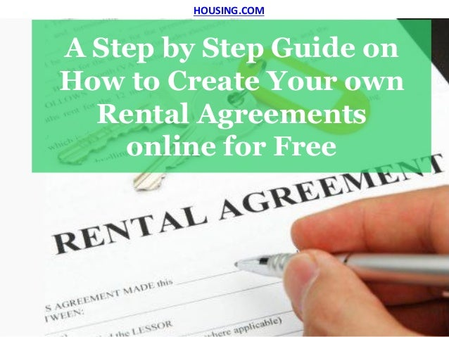 Guide On How To Create Your Own Rental Agreements Online For Free