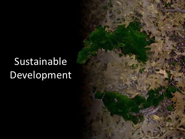 SustainableDevelopment<br />