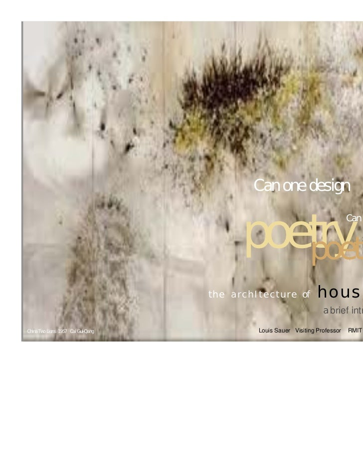 Can one design                                                    poetry in                                               ...