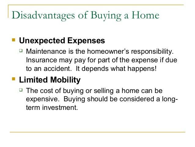 Housing - Buying vs. Renting