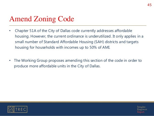 Affordable Housing Presentation to the City of Dallas
