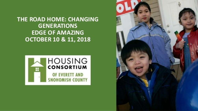 THE ROAD HOME: CHANGING GENERATIONS EDGE OF AMAZING OCTOBER 10 & 11, 2018