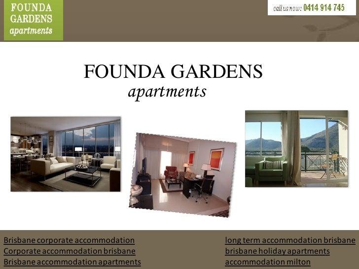FOUNDA GARDENS                      apartmentsBrisbane corporate accommodation    long term accommodation brisbaneCorporat...
