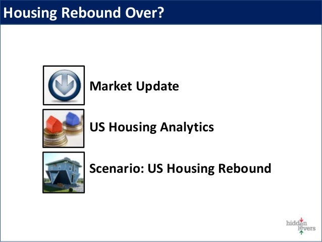 Market Update US Housing Analytics Scenario: US Housing Rebound Housing Rebound Over?