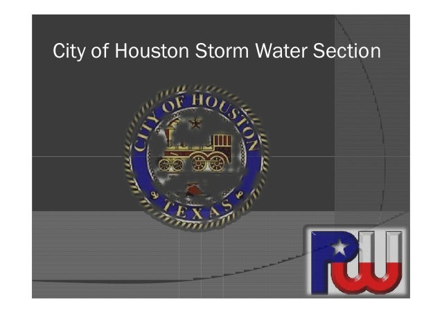 City of Houston Storm Water Section