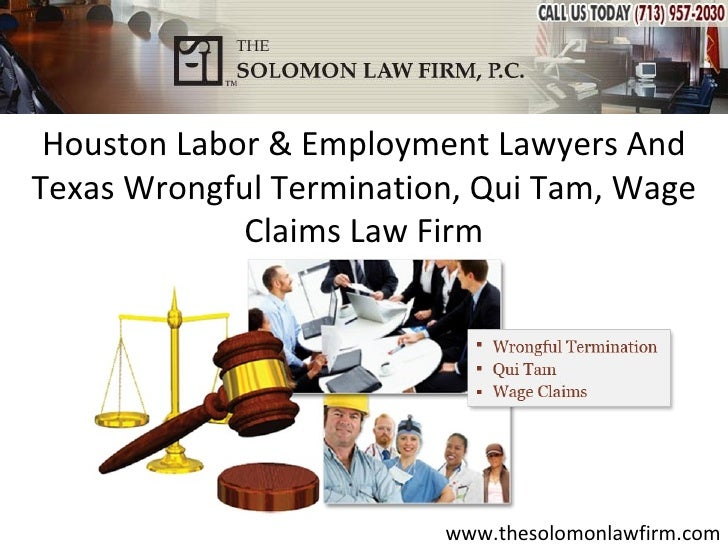 Houston Labor & Employment Lawyers AndTexas Wrongful Termination, Qui Tam, Wage             Claims Law Firm               ...