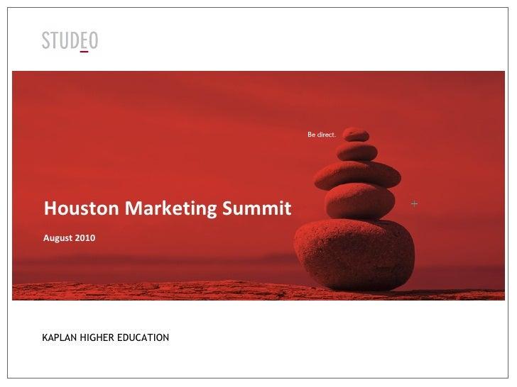 Houston Marketing Summit August 2010