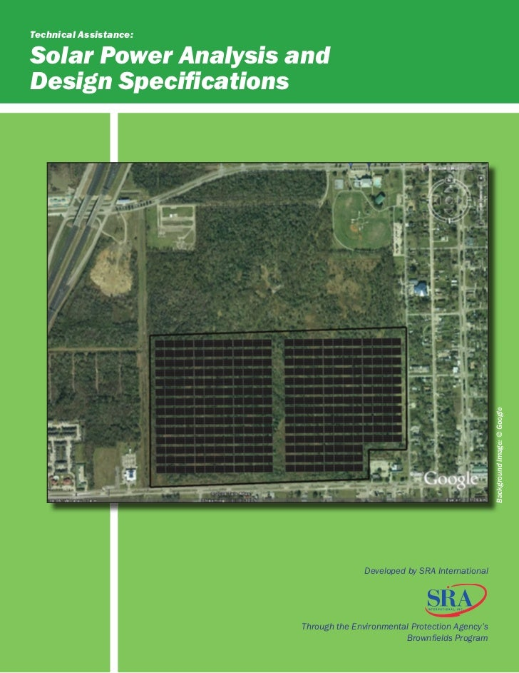 Technical Assistance:Solar Power Analysis andDesign Specifications                                                         ...