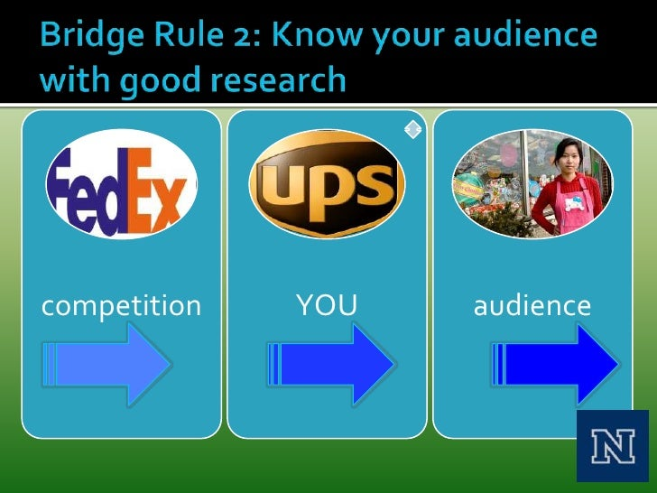 Bridge Rule 2: Know your audience with good research<br />