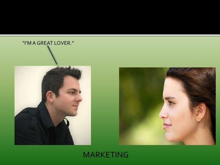 """""""I'M A GREAT LOVER.""""<br />MARKETING<br />"""