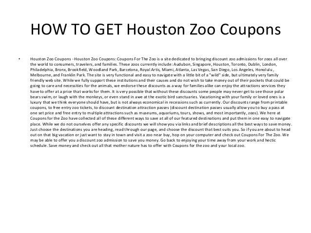 Houston zoo coupons