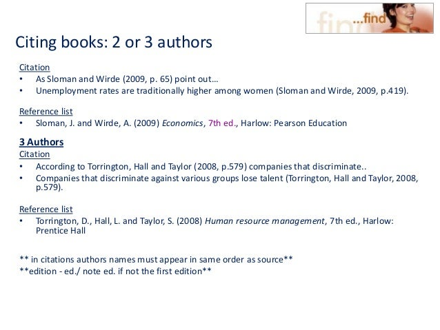 Hout cite harvard 2011 citing books 2 or 3 authors ccuart