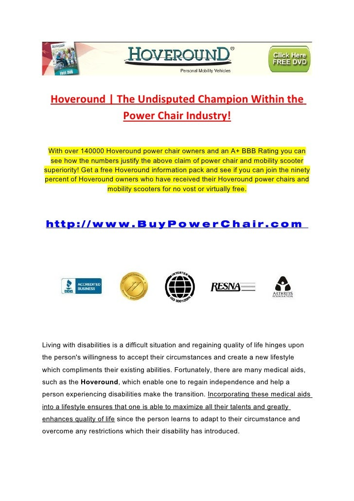Hoveround | The Undisputed Champion Within the                Power Chair Industry!   With over 140000 Hoveround power cha...