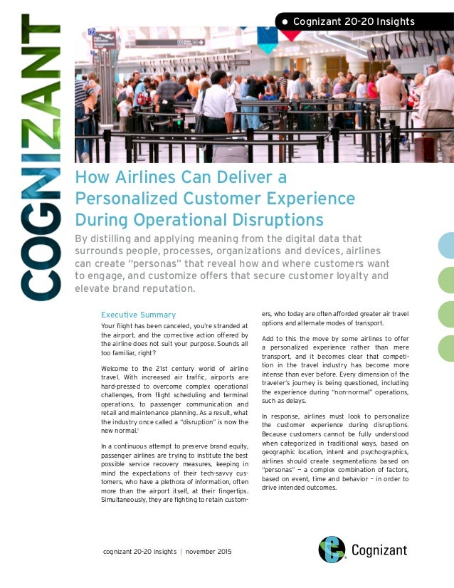 How Airlines Can Deliver a Personalized Customer Experience During Operational Disruptions By distilling and applying mean...