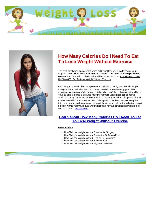 how to use calories to lose weight
