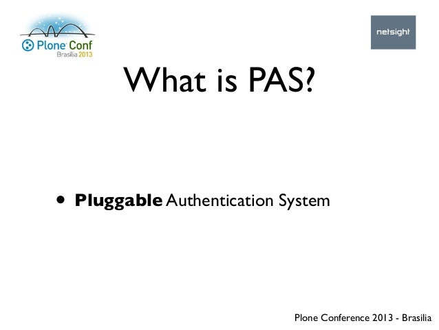 How to get started with the Pluggable Authentication System Slide 3