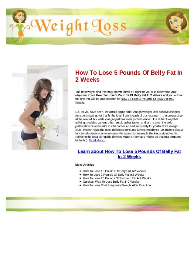 Lose weight 5 pounds in 2 weeks