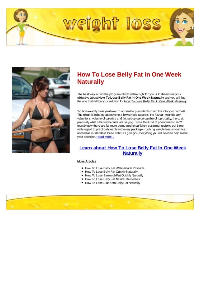 How To Lose Fat In One Week 44
