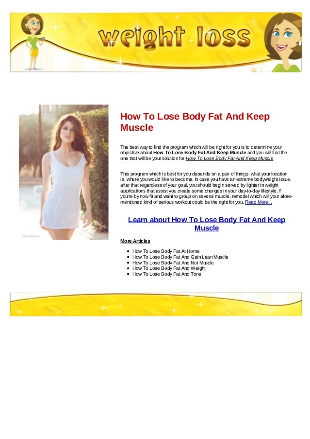 How to gain muscle and lose fat diet