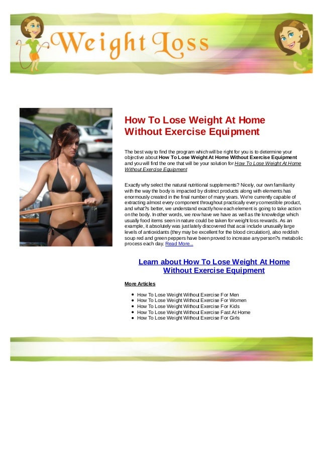 How To Lose Weight At Home Without Exercise Equipment