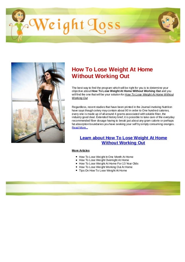 How To Lose Weight At Home Without Working Out
