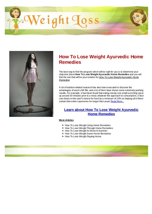 How to lose weight ayurvedic home remedies