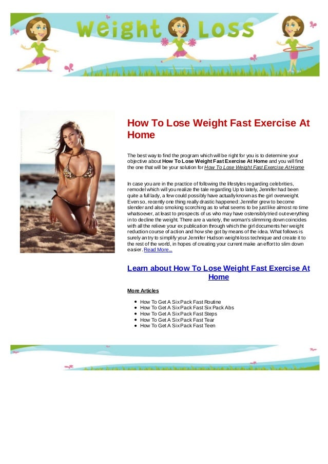 how to lose weight fast and get a six pack