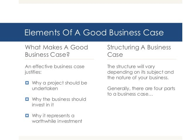 writing an effective business case