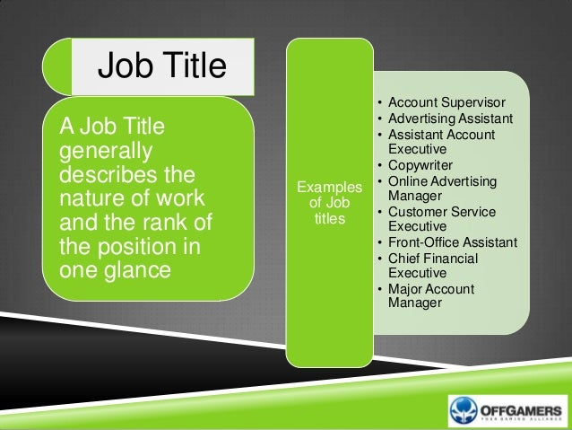 job title examples for customer service